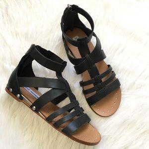 New! Steve Madden black leather gladiator sandal